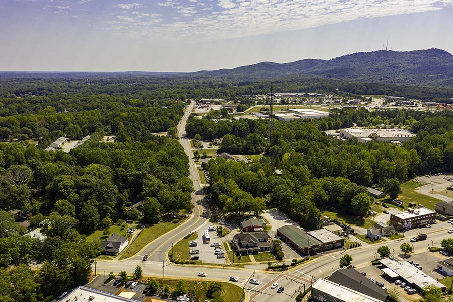 Anderson SC - Aerial VIew of Anderson South Carolina
